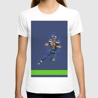 seahawks T-shirts featuring Russell Wilson QB 3 Seattle Seahawks by Akyanyme