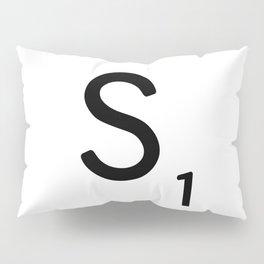 Letter S - Custom Scrabble Letter Tile Art - Scrabble S Initial Pillow Sham