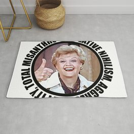 Nihilistic quotes by Jessica Fletcher: Creative Nihilism, Aggressive Pity, Total Misantropy Rug