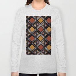 African Tribal Pattern No. 59 Long Sleeve T-shirt