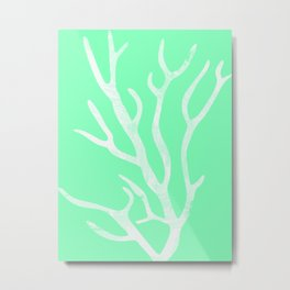 Coral Marine Abstract Metal Print