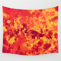 chemistry Wall Tapestries featuring Chemistry on Red by Adaralbion