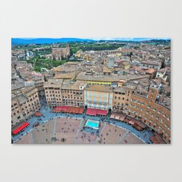 Siena, Italy - from above II Canvas Print