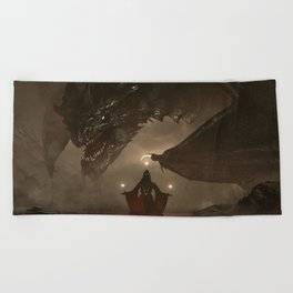 One Who Knows No Mercy Beach Towel