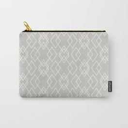 Neutral Geo Pattern Carry-All Pouch