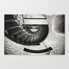 Sepia - Cape Hatteras Lighthouse (inside steps), Outer Banks, NC Canvas Print