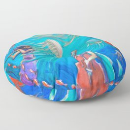 Mermaids Serenade Floor Pillow