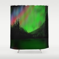 northern lights Shower Curtains featuring Northern Lights by Turul