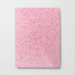 Spacey Melange - White and Dark Pink Metal Print