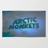 arctic monkeys Area & Throw Rugs featuring Arctic Monkeys by SLIDE