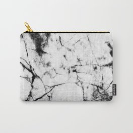 Marble Concrete Stone Texture Pattern Effect Dark Grain Carry-All Pouch
