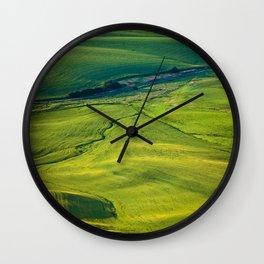 Green Tapestry Wall Clock