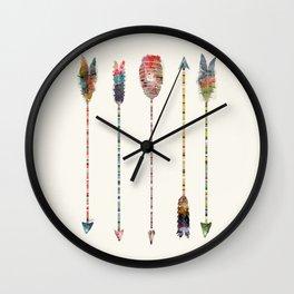 native earth arrows Wall Clock