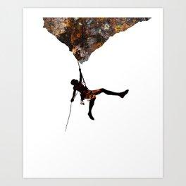 Rock Climbing  Art Print