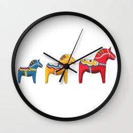 Dala horses Wall Clock