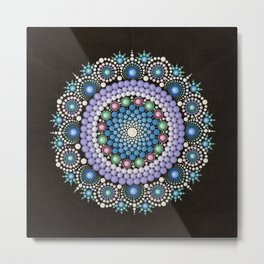 Dot Art Mandala Metal Print