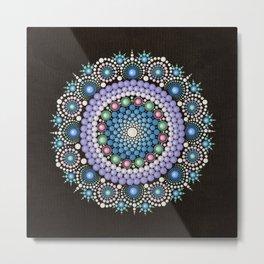 Dot Art Mandala Metal Print