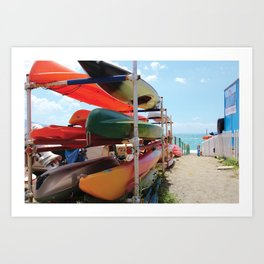 Kayaks in the Cinque Terre Art Print