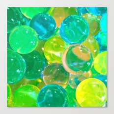 GREEN GLISTENING BUBBLY BUBBLES Canvas Print