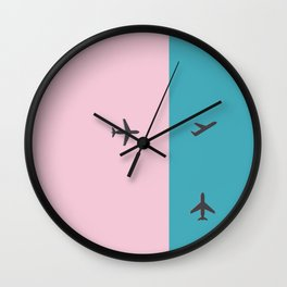 plane action Wall Clock