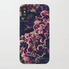 hydrangea - deep purple iPhone X Slim Case