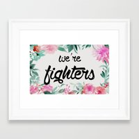 foo fighters Framed Art Prints featuring fighters by Pat Taveras