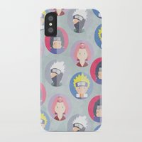naruto iPhone & iPod Cases featuring Naruto icons by Maha Akl