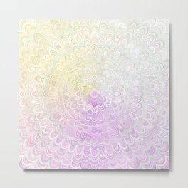 Snow Flower Mandala Metal Print