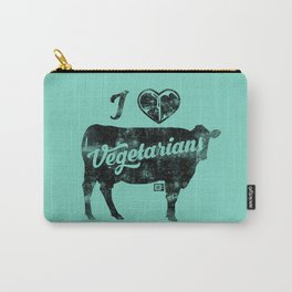 I Heart Vegetarians Carry-All Pouch