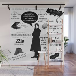 Sherlock Holmes Quotes Wall Mural