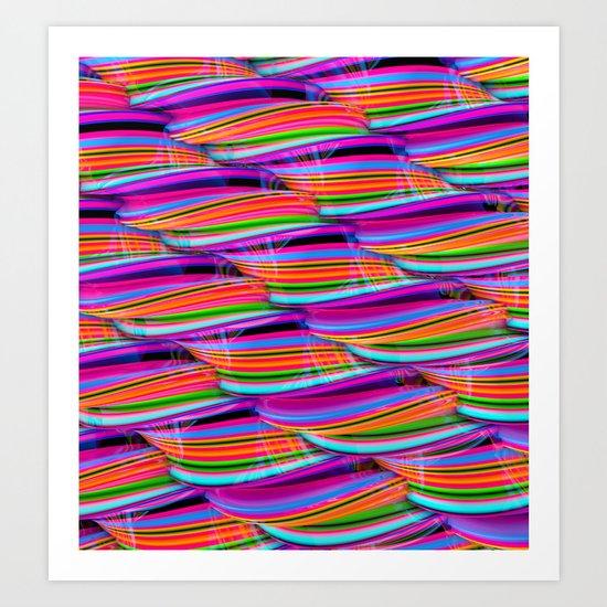 Curved Disco World Art Print