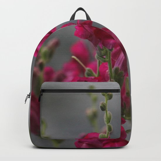 Bloom in Pink, Green, and Gray Backpack