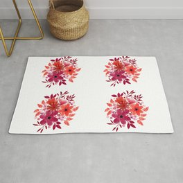 Red Roses Bouquet Rug