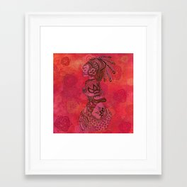Amazone Throw Pillow Framed Art Print