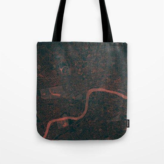 London Map Red Tote Bag