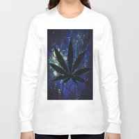 marijuana Long Sleeve T-shirts featuring Marijuana Galaxy by Megan Mayhem 17