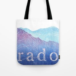 Colorado Mountain Ranges_Pikes Peak + Continental Divide Tote Bag