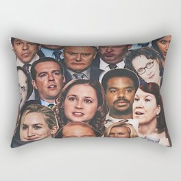 The Office Collage Rectangular Pillow