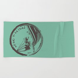 Lazy as it can be ! Beach Towel
