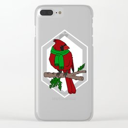 Chilly Cardinal Clear iPhone Case