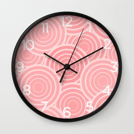 Circular Blush (pattern) Wall Clock