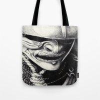 samurai Tote Bags featuring Samurai  by Mjenai