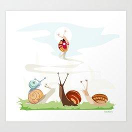 Ole ole caracoles Art Print
