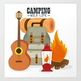 Camping Wild Life   Three Nomads Art Print