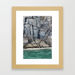 Rock Lines Framed Art Print