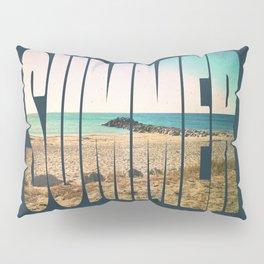 Summer - Frontignan beach in southern france - seascape Pillow Sham