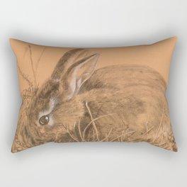 bunny rabbit Rectangular Pillow