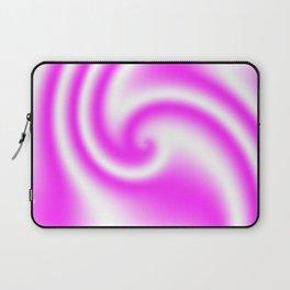 Raspberry Ribbon Candy Fractal Laptop Sleeve