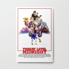 The Office Threat Level Midnight Metal Print