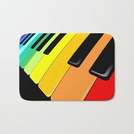 Piano Keyboard Rainbow Colors  Bath Mat